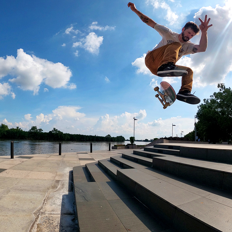 chris cole with the gopro skate team in thailand superphoto