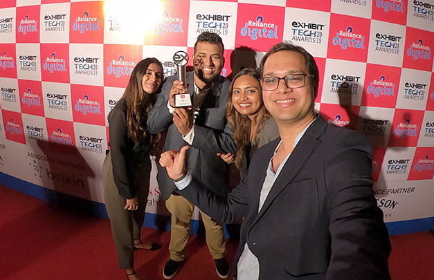 Team GoPro India accepts Innovative Tech of the Year Award for GoPro MAX.