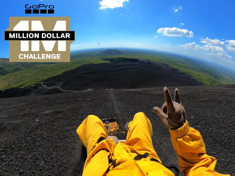 million dollar challenge creator pierce cameron volcano slide