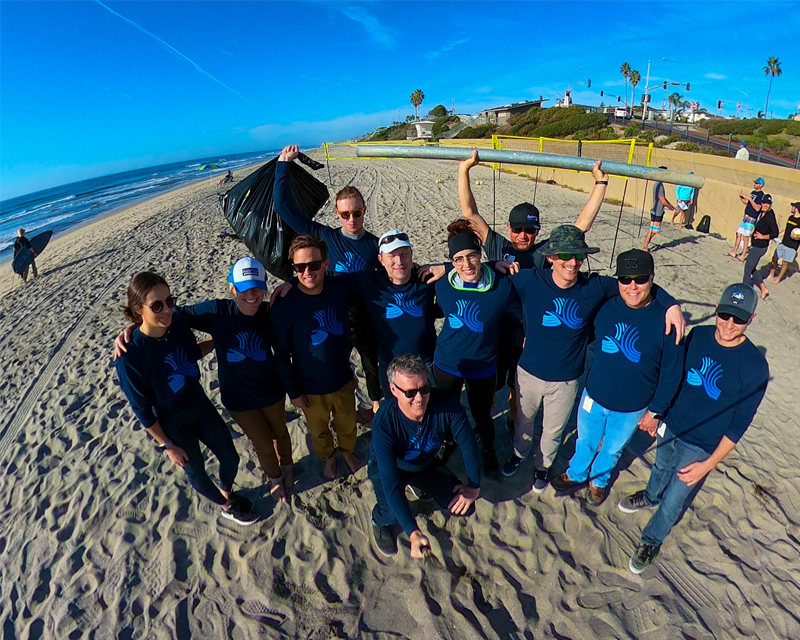 Beach cleanup in Carlsbad