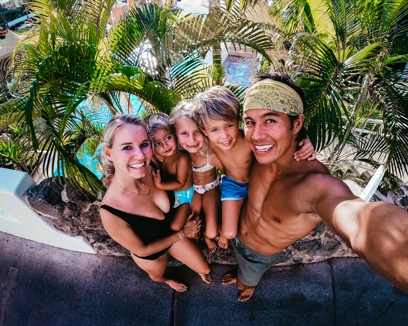 family travel gopro action camera