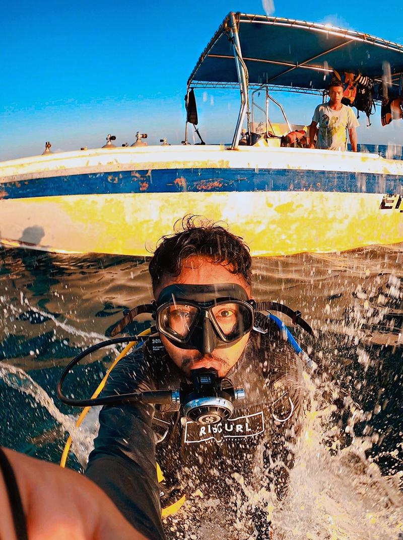 GoPro diver taking a selfie.