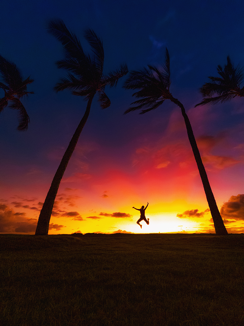 RAW Sunset Jumps GoPro Shot