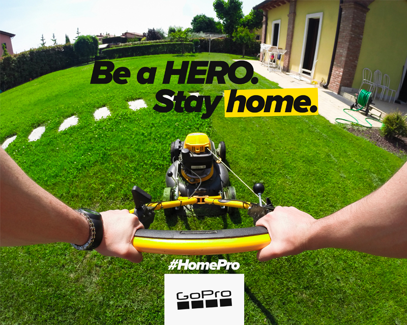 GoPro Be a HERO. Stay Home campaign