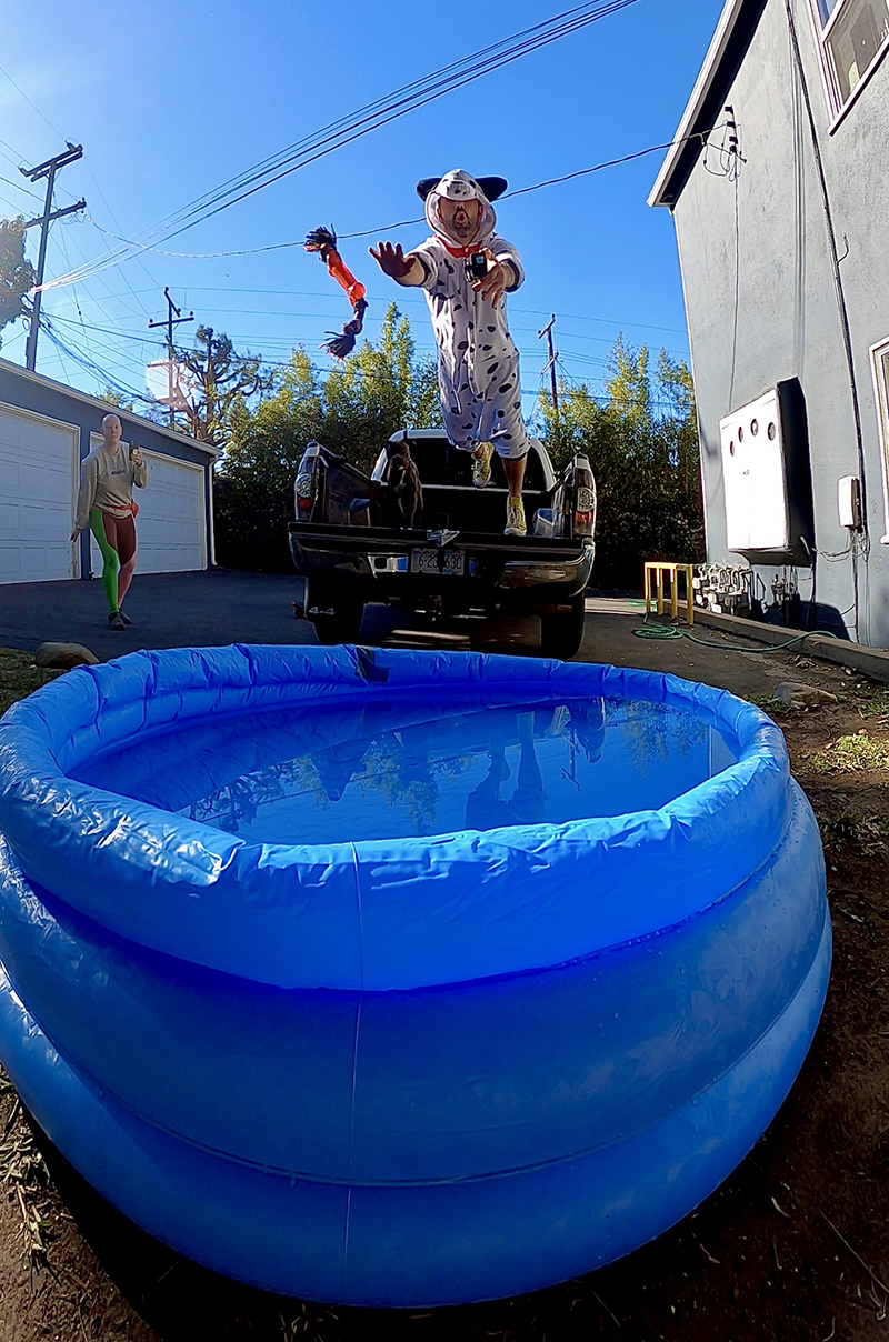 Wade Holland recreating DockDogs for The Great Indoors.