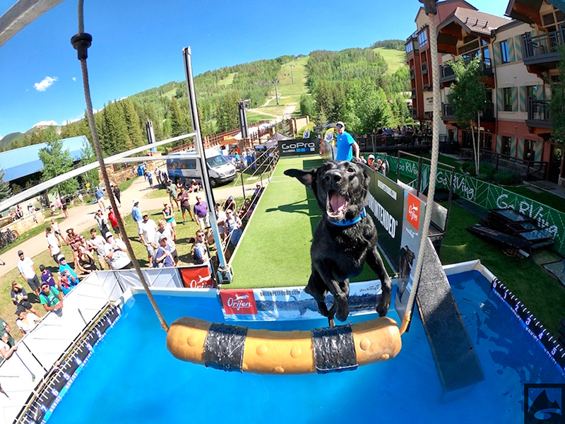 Dock dogs at GoPro Mountain Games in Vail, Colo.