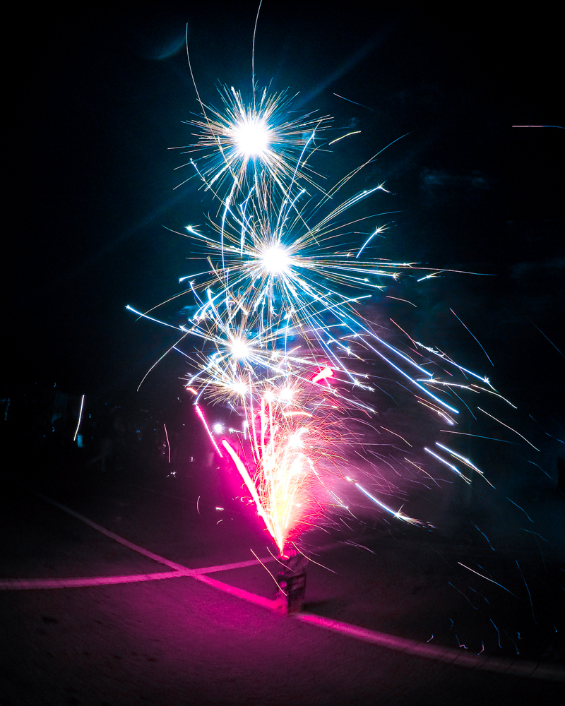 Fireworks shot on GoPro action camera.