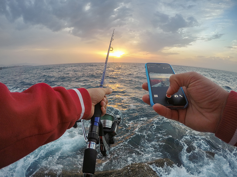 Fishing with GoPro