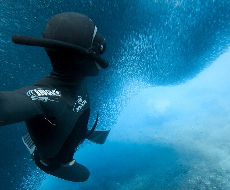 Imagens debaixo d'água da GoPro