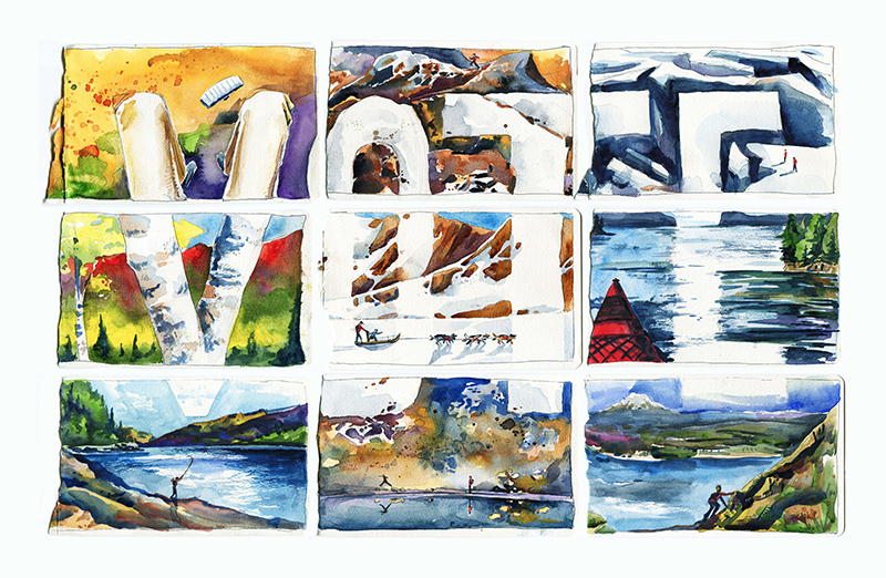 'Go Vote' artistic views of public lands by Max Romey.