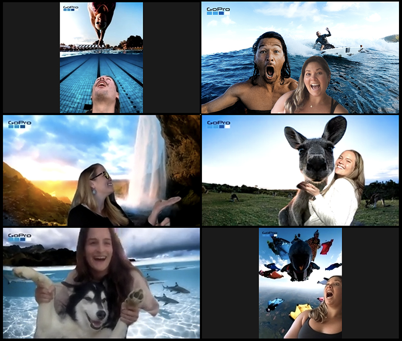 GoPro virtual video conferencing backgrounds