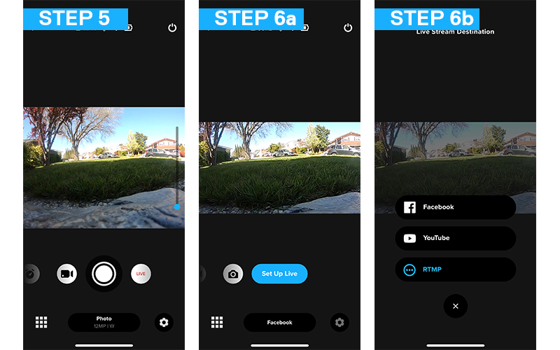 how to live stream to an rtmp site with gopro