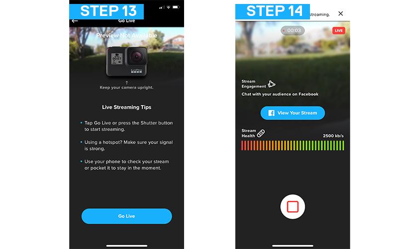 GoPro を使って Facebook でライブ配信する方法