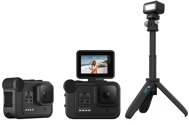 GoPro Media Mod, Display Mod and Light Mod accessories for HERO8 Black