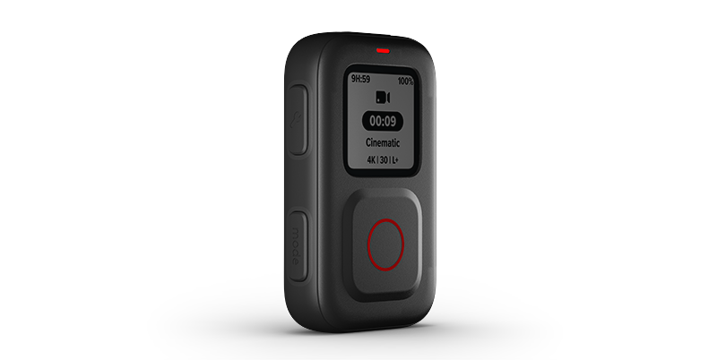 GoPro's new smart remote, The Remote, is compatible with HERO9 Black HERO8 Black and GoPro MAX.