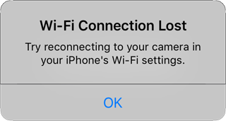 Wi-Fi Connection Lost