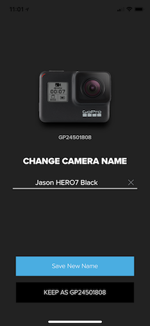 Change Name on GoPro