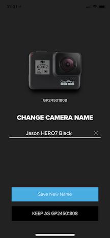 在 GoPro 上更改名称