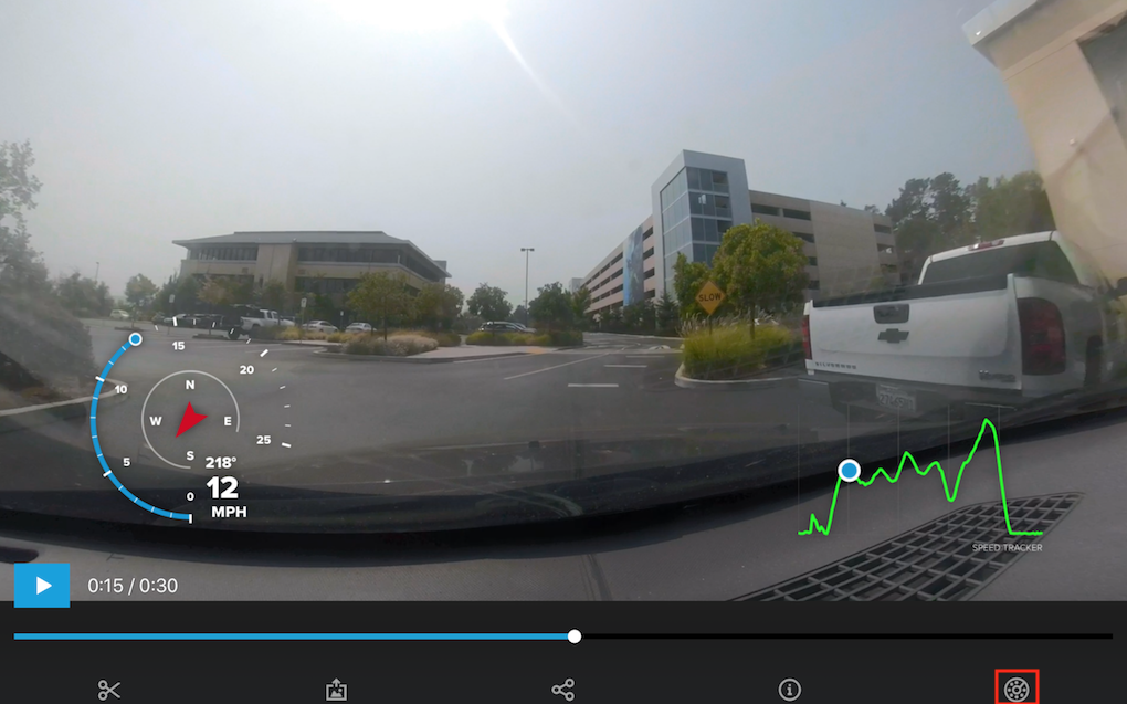 How to View Gauges in the GoPro Mobile App