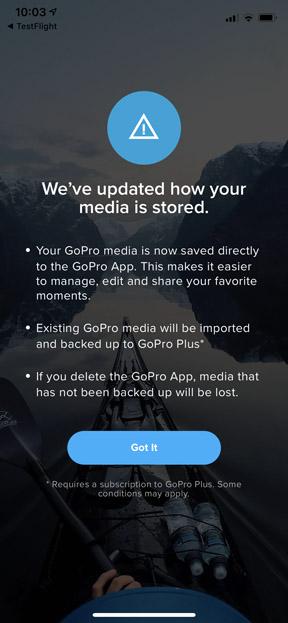 App Media Warning
