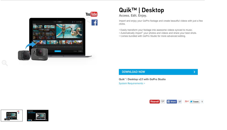 quik デスクトップ ダウンロード