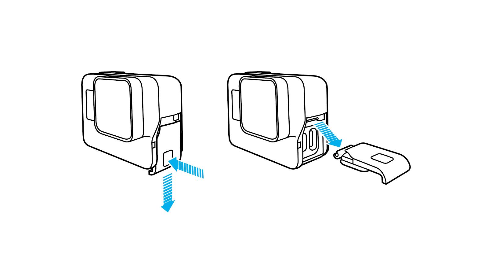 Comment ouvrir la porte de la batterie et retirer