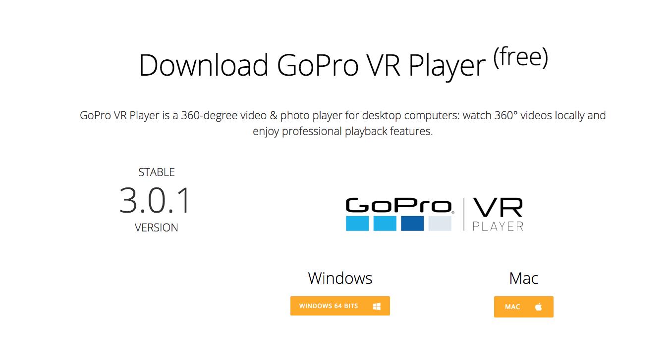 GoPro VR Player Download